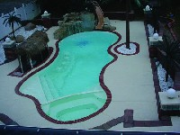 Pleasure Island Fiberglass Pool and Spa